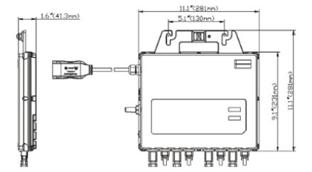 dimensiones microinversor apsystems qs1