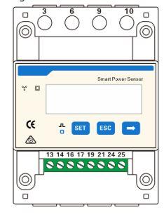 esquema smart power sensor DTSU-666-H huawei trifasico