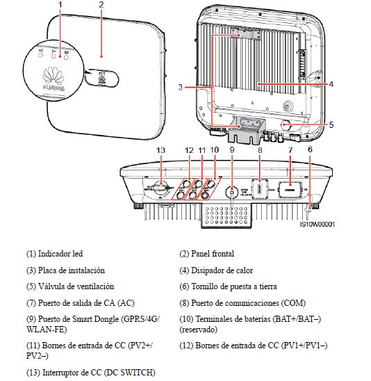 esquema inversor hibrido trifasico huawei 5ktlm0