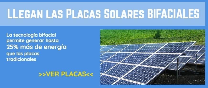 Placas Solares BIFACIALES - novedad en TECNOSOL