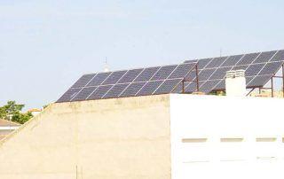 Distancia entre filas de paneles solares