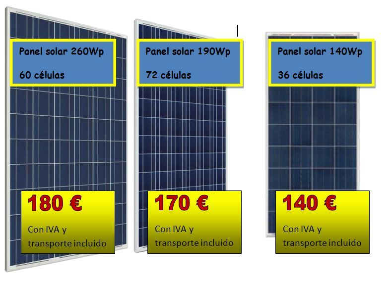 paneles solares fotovoltaicos baratos