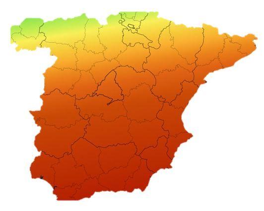 mapa radiacion y zonas climaticas España para calculo kits solares