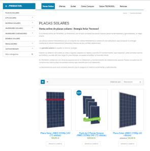home nueva WEB tienda online TECNOSOL | Energía Solar y Sistemas de Riego