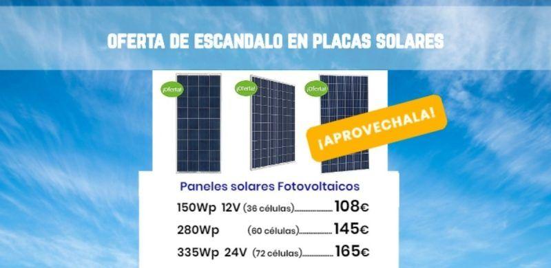 oferta en placas solares a la venta en la tienda online de Energía Solar TECNOSOL