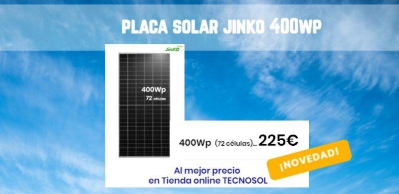 nueva placa solar JINKO CHEETAH 400wp a la venta en la tienda online TECNOSOL
