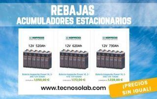 Rebajas en acumuladores estacionarios a la venta en tienda online TECNOSOL