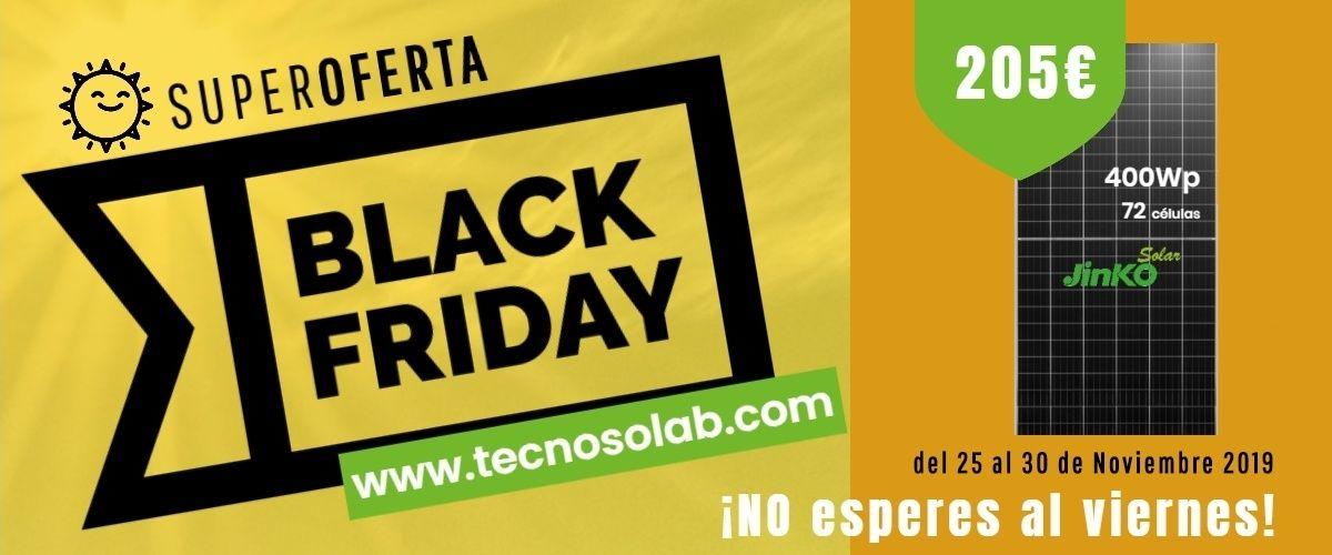 superoferta semana black friday placas solares 400wp en tienda online TECNOSOL