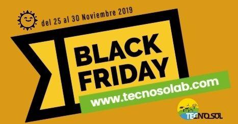 superoferas semana black friday en tienda online de material para energía solar TECNOSOL