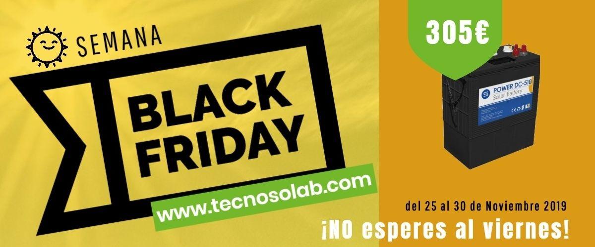 superoferta semana black friday Baterías Solares en tienda online TECNOSOL