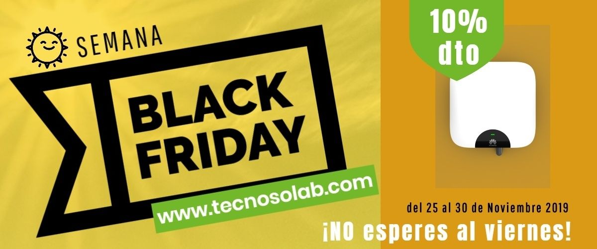 superoferta semana black friday Inversores Autoconsumo en tienda online TECNOSOL
