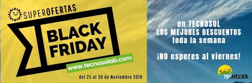 semana superofertas black friday 2019 en tienda online de Energía Solar TECNOSOL