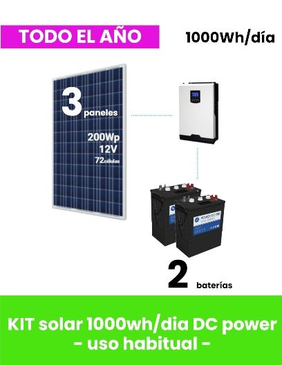 kit-solar-1000whdia-dc-power-uso-habitual a la venta en tienda online tecnosol