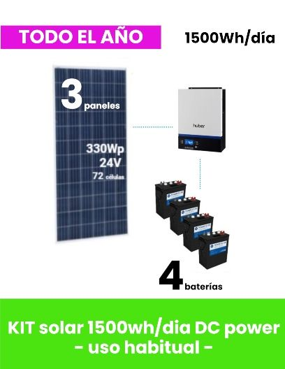 kit-solar para vivienda aislada de uso todo el año-1500whdia-cicloprofundo tecnosol albacete