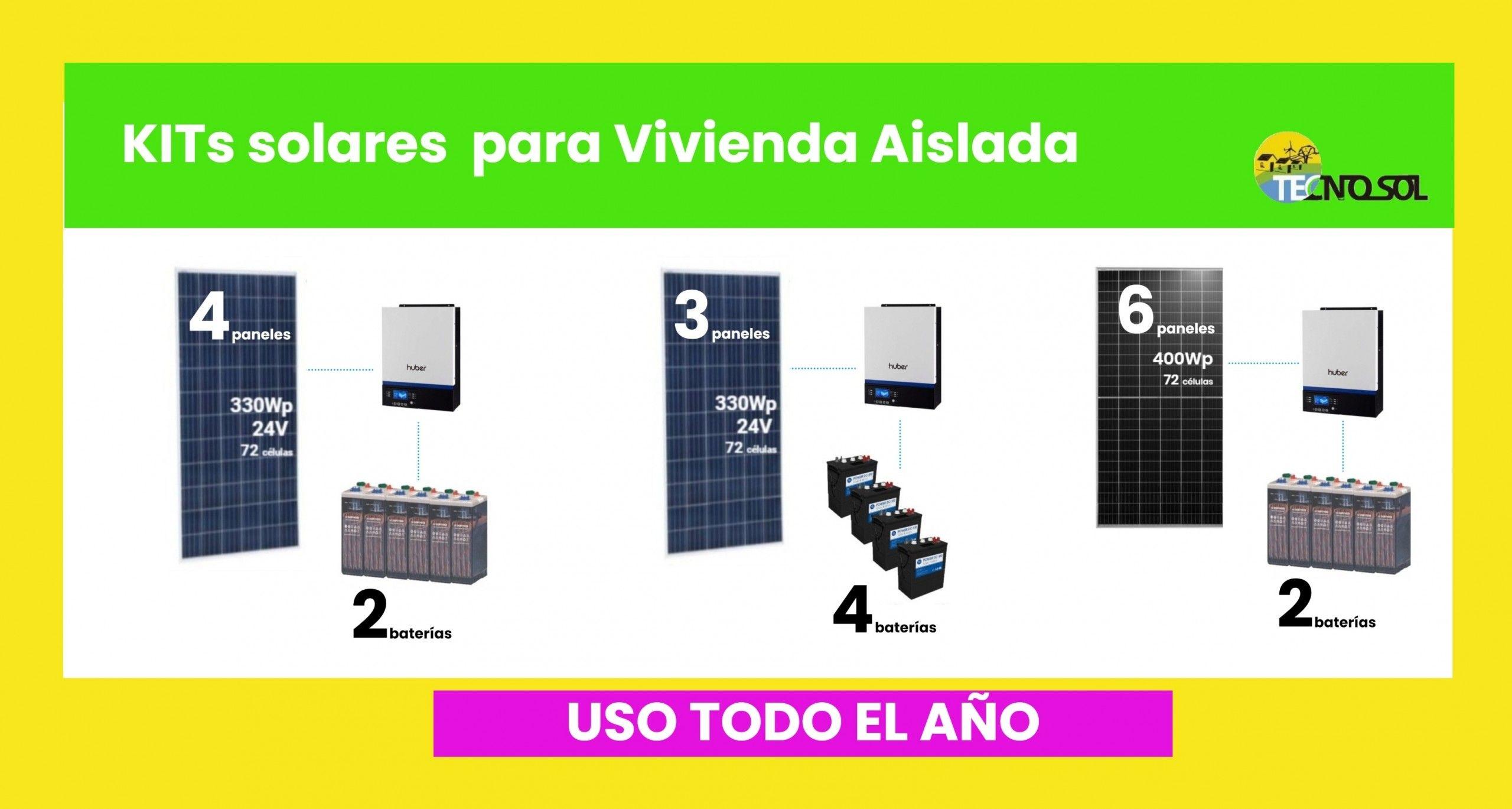 nuevos kits solares para vivienda aislada de uso todo el año - tecnosol albacete