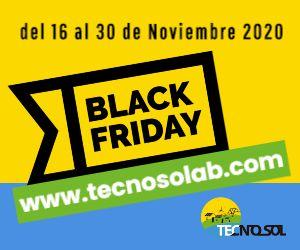 superoferas semana black friday en tienda online de material para energía solar TECNOSOL 2020