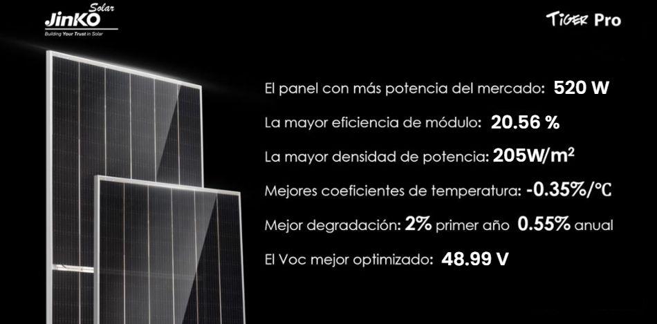 ventajas las placas solares jinko tiger pro 520w - a la venta en tecnosol