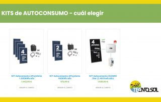 Cómo elegir kit de Autoconsumo - post del blog de TECNOSOL Albacete