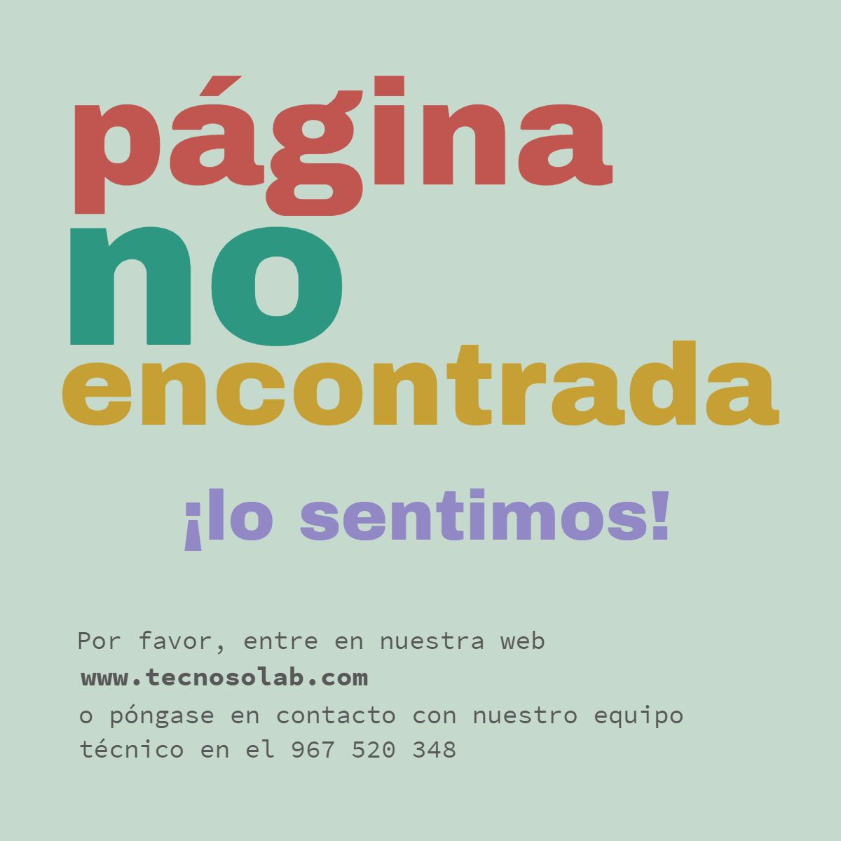 página no encontrada BLOG TECNOSOL Albacete